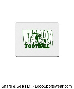 Warrior Football Mouse Pad Design Zoom