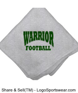 Warrior Football Sweatshirt Blanket Design Zoom